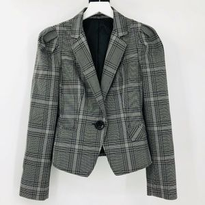 Express Studio Glen Plaid Jacket Blazer